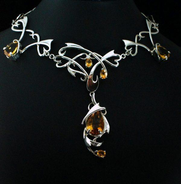 Custom made Citrine necklace
