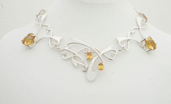 Silver & Citrine necklace