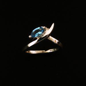 Women's designer silver ring