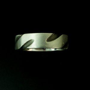 Men's designer silver Wedding Ring