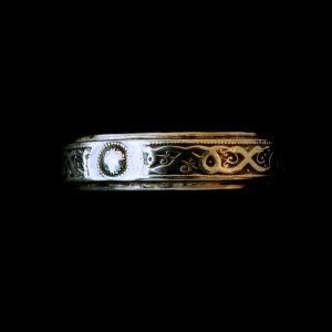Men's designer silver Celtic ring