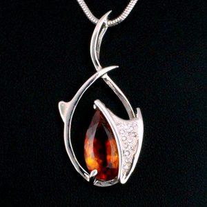Citrine & Diamond Pendant