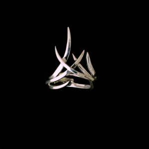 Women's Silver Entangled Rings Set