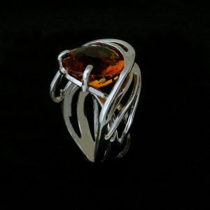 Torcere Silver & Citrine ring